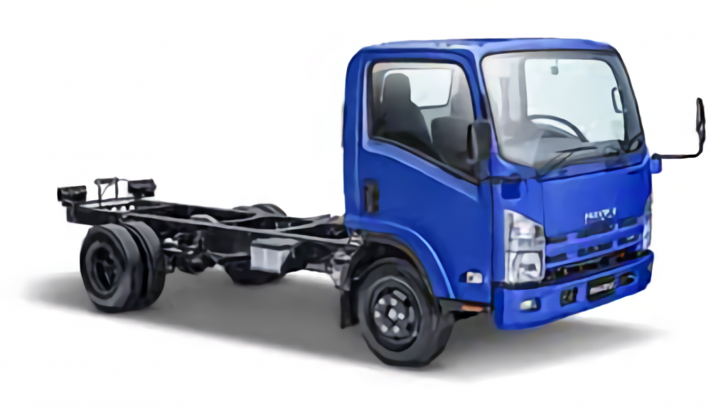 Chasis Isuzu NQR85L azul